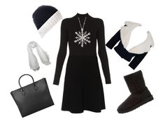 """""""Winter Wonderland"""" by steelersforlifeo ❤ liked on Polyvore featuring Paule Ka, Jean Patou, UGG, Valentino, Black and Ross-Simons"""