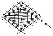 Download hier het gratis patroon van een zeshoek in tulekant