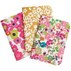 caroline garner floral pocket notebooks