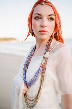 Today we have a shoot to inspire the bohemian bride that isn't afraid of a bit of color! We love the way photographer Eulanda Shead blended the chic simplicity of with bold styling and. Bohemian Bride, The Chic, Bridal Style, Moroccan, Wedding Dresses, Hair Styles, Inspiration, France, Beauty