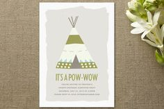 Pow-Wow Children's Birthday Party by Paper and Parcel at minted.com