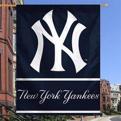 New York Yankees 27 x 37 Navy Blue Vertical Banner Flag Yankees Outfit, Yankees Gear, Mlb Yankees, New York Yankees Apparel, Baseball Party, Basketball Teams, Banner, Flag, Logos