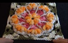 Square de Flor em Crochê