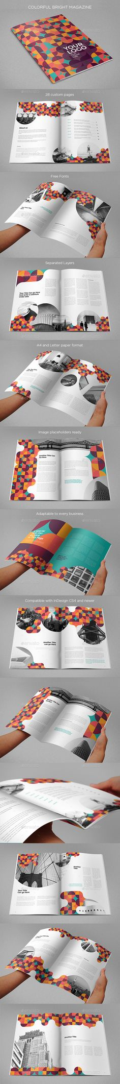 Colorful Pattern Circles Brochure Template InDesign INDD. Download here: http://graphicriver.net/item/colorful-pattern-circles-brochure/16478243?ref=ksioks