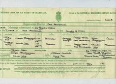Fearless Females 2014: Marriage Record: Minda LEY #genealogy #familyhistory