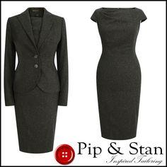 NEXT UK8 US4 BROWN WOOL TWEED PENCIL SHIFT DRESS SUIT WOMENS LADIES WOMAN SIZE | eBay