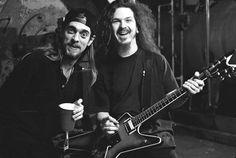pantera's rex and dimebag Dimebag Darrell Guitar, Pantera Band, Rock Couple, Vinnie Paul, Ozzy Osbourne, Thrash Metal, Alternative Music, Rock Legends, Black Sabbath
