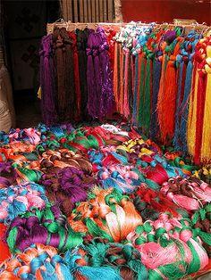 Tibet - Echeveaux de soie