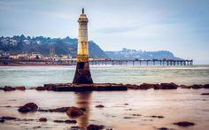 Beacon at Teignmouth, Devon, England Pick One, Dream Vacations, Cn Tower, Wonders Of The World, Statue Of Liberty, Waiting, Devon England, It Cast, Lighthouses