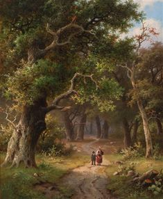 View Figures on a forest path by Hendrik Pieter Koekkoek on artnet. Browse upcoming and past auction lots by Hendrik Pieter Koekkoek. Fantasy Landscape, Landscape Art, Landscape Paintings, Brande, Scenery Pictures, Forest Path, Forest Painting, Cottage Art, Excursion