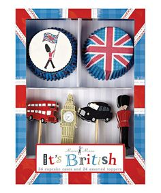 Take a look at this British Cupcake Kit by Meri Meri on #zulily today!