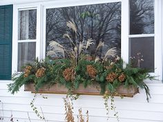 holiday window box idea