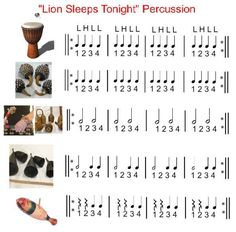 Lions Sleeps Tonight percussion part I arranged to go with boomwhackers, mallets, or ukuleles. ♫ CLICK through to preview or save for later!   ♫