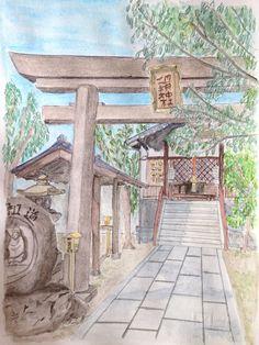 Tempio giapponese - illustrazione