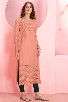 Kurti Sleeves Design, Sleeves Designs For Dresses, Kurti Neck Designs, Blouse Designs, Stylish Dress Designs, Stylish Dresses, Fashion Dresses, Gharara Designs, Kurti Designs Party Wear