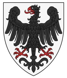Herald's Roll (part I) - WappenWiki Friedrich Ii, Medieval Shields, Imperial Eagle, Medieval Paintings, Eagle Art, Banner, Holy Roman Empire, Fantasy City, Book Of Kells