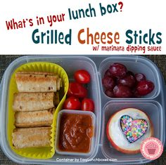 Grilled Cheese Sticks recipe. Great for lunch boxes. Dina of What The Girls Are Having MORE ►  And here are a couple of...