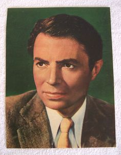 "James Mason 1940's Magazine Clipping Color Tint 13""x10"" Tall Dark & Handsome!!!!"