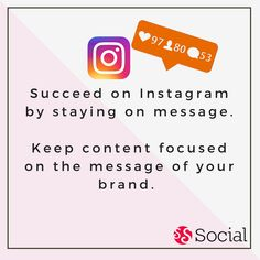 One of the ways to succeed on Instagram is to stay on message.  For example, If you are a shoe company, don't post hundreds of pictures of food. Stay within your core objective and keep it clear about what you do or you will end up confusing viewers.