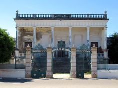This neoclassical hospital building on Mozambique Island dates from Portuguese colonial times. It was once the largest hospital south of the Sahara. Colonial, Mozambique Beaches, Neoclassical, East Africa, Beach Resorts, Portuguese, Pergola, Outdoor Structures, Island