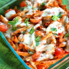 Slightly Healthier Caprese Penne {adapted from the How Sweet It Is recipe}
