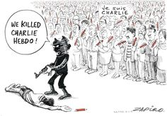 Extremists Can't Kill Charlie Hebdo's Ideas - Zapiro - Sud Africa - 11 gennaio
