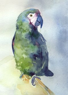 watercolor….nice mix of green/blue