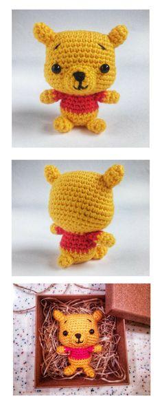 Crochet Keychain Winnie the Pooh Teddy Bear Cute Crochet Mini Gift for Baby Miniature Bear Hanging Key Chain Gifts For Friends Amigurumi Toy   #Teddybear #cutecrochetminibear #miniatureTeddyBear  #GiftsforFriends #AmigurumiToys #WinniethePooh ##WinniePooh