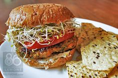 Vegan Sweet Potato Quinoa Burger From: 86 Lemons, please visit Lentil Burgers, Quinoa Burgers, Vegan Burgers, Sweet Potato Burgers, Quinoa Sweet Potato, Vegan Veggie Burger, Vegetarian Recipes, Healthy Recipes, Healthy Meals