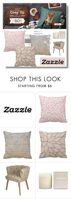 """Zazzle.co.uk"" by fashion-all-around ❤ liked on Polyvore featuring interior, interiors, interior design, home, home decor, interior decorating, Chehoma, Skandinavisk, cosy and zazzle"