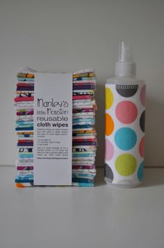 40 Reusable CLOTH WIPES variety pack with spray bottle of your choice. $32