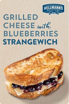 Love blueberries? Love grilled cheese? This strangewich is for you. Quick, easy, just 5 ingredients and 5 mins to cook. Then you're ready for breakfast, lunch or dinner. Click through for full recipe.