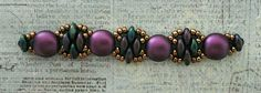 "Linda's Crafty Inspirations: Deborah Roberti's ""Silky Stacker Bracelet"" with Candy Beads. Links to the FREE Pattern"