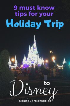 Disney World is so much fun at the end of the year! These 9 must know tips will help you plan for a magical holiday season at Disney.
