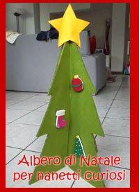 Albero di Natale fai da te-gioco per bambini - DIY play felt and cardboard christmas tree