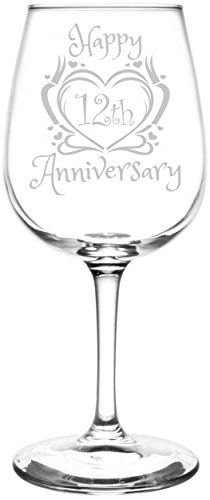 Personalized & Custom Beautiful & Elegant Floral Happy Anniversary Wedding Ring Inspired - Laser Engraved Libbey All-Purpose Wine Taster Glass Happy Anniversary Wedding, Anniversary Quotes, Anniversary Parties, Anniversary Ideas, 30th Anniversary Gifts For Parents, Anniversary Surprise, Anniversary Decorations, Anniversary Jewelry, Anniversary Cards