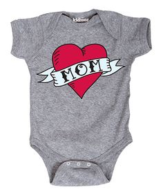 Look at this Athletic Heather 'Mom' Bodysuit - Infant on #zulily today!