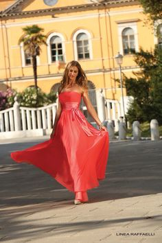 Simple Strapless Floor Length Red Chiffon A Line Mother Of The Bride Dress Strapless Dress Formal, Prom Dresses, Formal Dresses, Bride Dresses, Coral Gown, Red Chiffon, Occasion Wear, Mother Of The Bride, Fashion Boutique