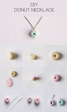How to make a donut necklace out of polymer clay