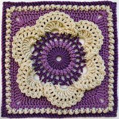 Cow Parsley Square: FREE crochet pattern