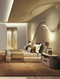 Modern Gypsum Board Ceiling Design For Modern Living Room With