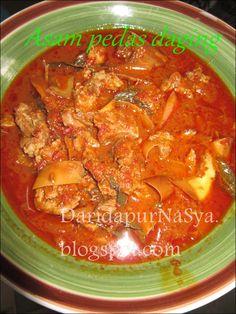 Dari Dapur NaSya: Asam pedas daging berjintan