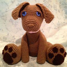 Chocolate Labrador Pouty Puppy Amigurumi von HeartstringsTheory