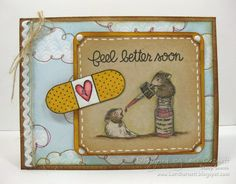 Paper Smooches Stamp Set: Healthy Vibes.  House-Mouse Stamps from Stampabilities.  Stamped by Lori Barnett