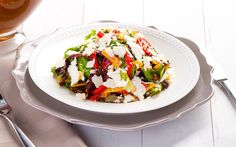 The flavors of fresh mango and jicama come together in this scrumptious salad. Coated with a warm chorizo vinaigrette.  See Recipe: http://www.vvsupremo.com/recipe/mixed-green-salad-with-warm-chorizo-vinaigrette