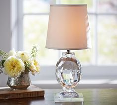 Carlotta Faceted Crystal Accent Lamp #potterybarn
