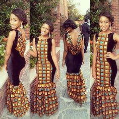 Check Out This Ankara Long Gown ~African Prints, African women dresses, African fashion styles, african clothing African Dresses For Women, African Print Dresses, African Attire, African Wear, African Prints, African Style, African Women, African Outfits, African Design
