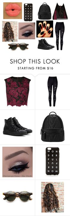"""""""Out with one of the 5sos boys"""" by kennajayce on Polyvore featuring Ted Baker, Converse and J.Crew"""