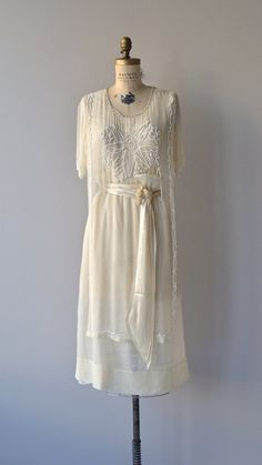 Northcliffe dress Edwardian silk beaded dress by DearGolden