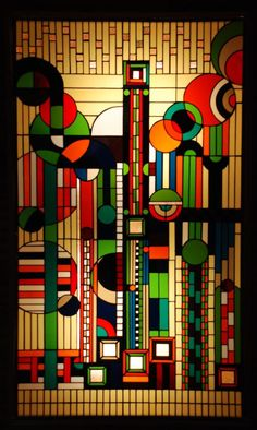 Stained glass by Frank Lloyd Wright